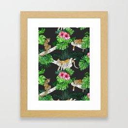 Leopard Sleeps Tonight Framed Art Print