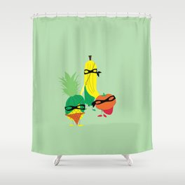 tropical gangsters Shower Curtain