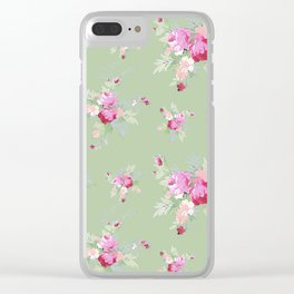 Rosanna on Green Clear iPhone Case