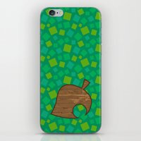 animal crossing iPhone & iPod Skins featuring Animal Crossing Spring Grass by Rebekhaart