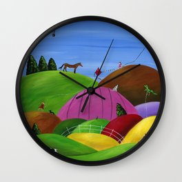 Hilly High Hopes Wall Clock