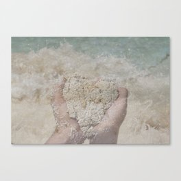 Ocean Heart Canvas Print