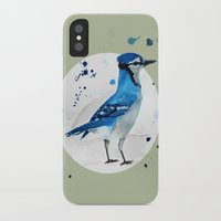 jay fleck iPhone & iPod Cases featuring Blue Jay by Condor