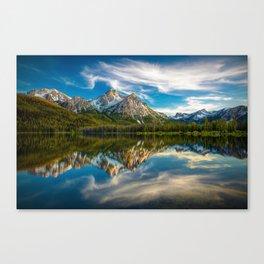 Sawtooth Range Morning Reflection Canvas Print