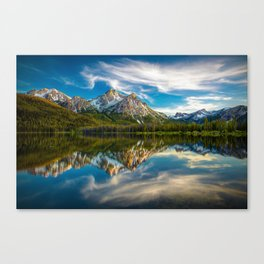Sawtooth Range Morning Reflection Canvas Print