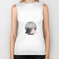 triangles Biker Tanks featuring Triangles by Marg