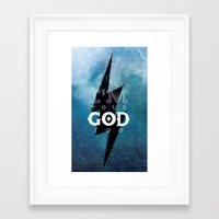 dota Framed Art Prints featuring Go easy, worms by Frying Sausage