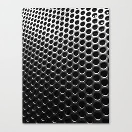 Stainless Steel Circles with Black Canvas Print