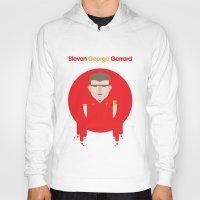 liverpool Hoodies featuring Steven Gerrard Liverpool Illustration by Gary  Ralphs Illustrations
