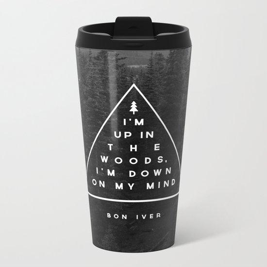 Woods -- Bon Iver Metal Travel Mug
