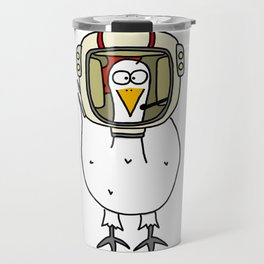 Eglantine la poule (the hen) dressed up as an astronaute Travel Mug