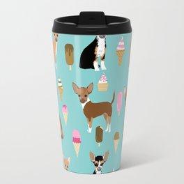 Chihuahua ice cream sweet treat summer food dog breed dogs pets Travel Mug