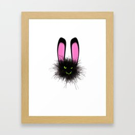 Evil Dust Bunny Framed Art Print