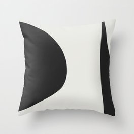 Minimal Black Throw Pillow