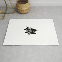 Give Thanks Lord Wolf Thanksgiving Rug
