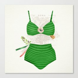 The Bikini Series: Tricolore Canvas Print