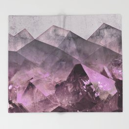 Quartz Mountains Throw Blanket
