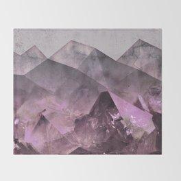 Quartz Mountains Throw Blanket
