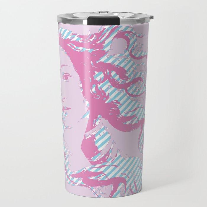 Rebirth of Venus - Pink & Cyan - Trans Pride! Travel Mug