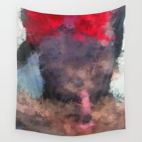 redhead Wall Tapestries featuring Redhead by TARA SCHLAYER
