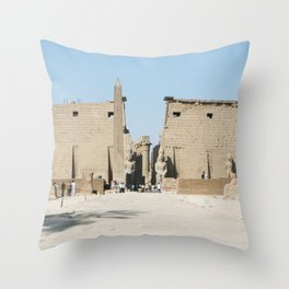 Temple of Luxor, no. 11 Throw Pillow