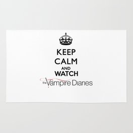 Keep Calm And Watch The Vampire Diaries Rug