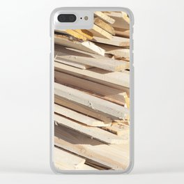 Board building materials Clear iPhone Case