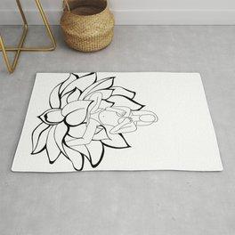 lotus lady #1 Rug