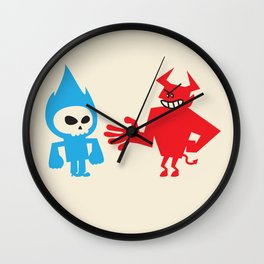 DEAL WITH DEVIL Wall Clock