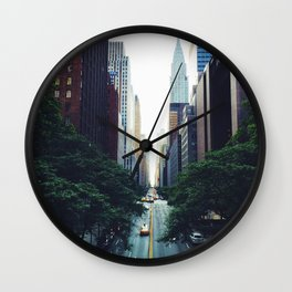New York City Street Skyscapers Travel Wanderlust #tapestry Wall Clock