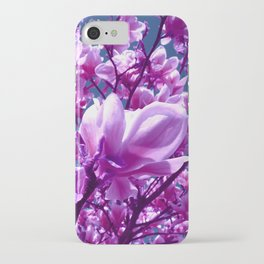 purple magnolia IV iPhone Case