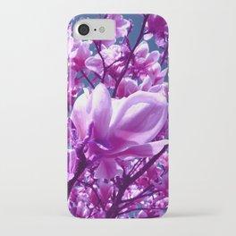 purple magnolia IV iPhone Case