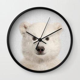 Polar Bear - Colorful Wall Clock