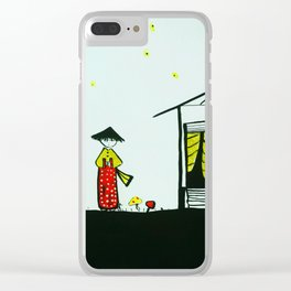japanese girl Clear iPhone Case