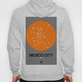 Mexico City Orange Subway Map Hoody