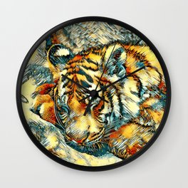 AnimalArt_Tiger_20170606_by_JAMColorsSpecial Wall Clock