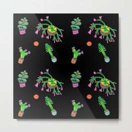 Cactus night Metal Print