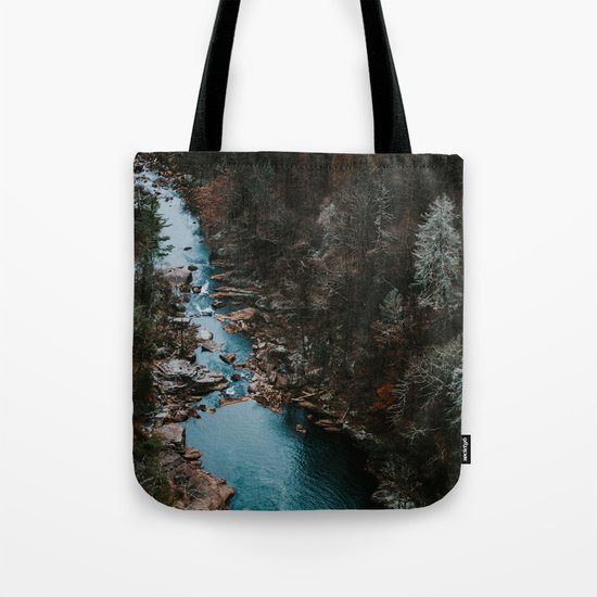 Blue Creek #landscape #society6 Tote Bag