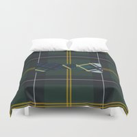 plaid Duvet Covers featuring Plaid on Plaid by Jessica