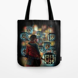 The Wastelands ghost lights Tote Bag