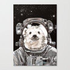 Astronaut Polar Bear Selfie Canvas Print