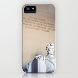 Abraham Lincoln Statue at the Lincoln Memorial iPhone Case