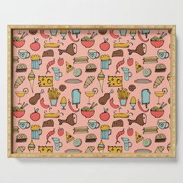 Food Frenzy pink Serving Tray