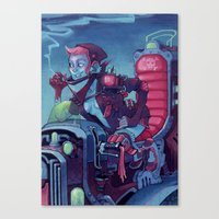 heavy metal Canvas Prints featuring Heavy Metal by SMENGEL