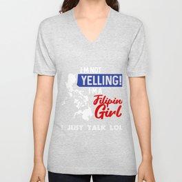 I'm Not Yelling I'm A Philippines Girl product, Filipino Tee Unisex V-Neck