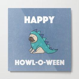 Happy Howl-O-Ween Dog Costume Metal Print