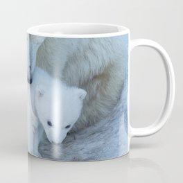Polar Bear Mother and Cub portrait. Coffee Mug