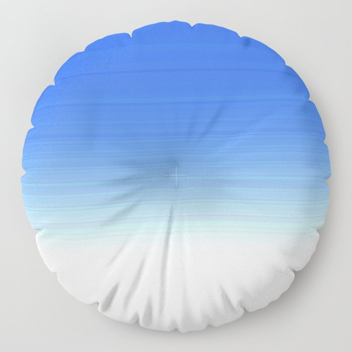 Sky Blue White Ombre Floor Pillow
