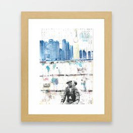 Two Wheels and the Power Framed Art Print
