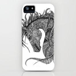Zentangle Horse Artwork iPhone Case